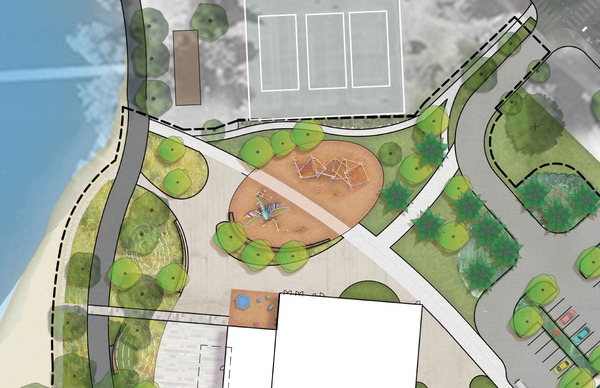 Schematic design showing the nature-themed playground.